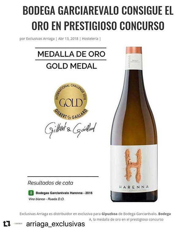@arriaga_exclusivas , gracias por el esfuerzo que hacéis para dar a conocer nuestros vinos.... #winelovers #dorueda #matapozuelos