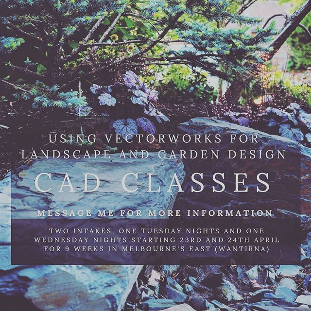 Vectorworks for garden design classes. The course is around $500. It can be used towards a diploma in horticulture like landscape design or just entered as a fee for service short course #landscapedesign  #horticulture #cad