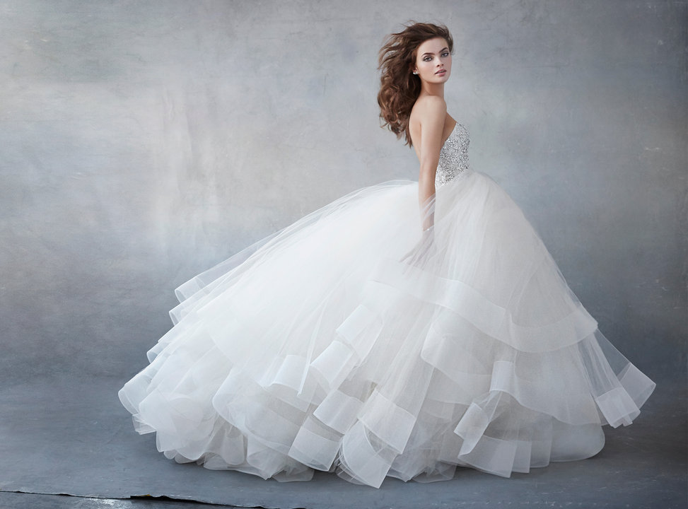 b91966e258a STYLE 3608. STYLE 3608. Champagne tulle bridal ...