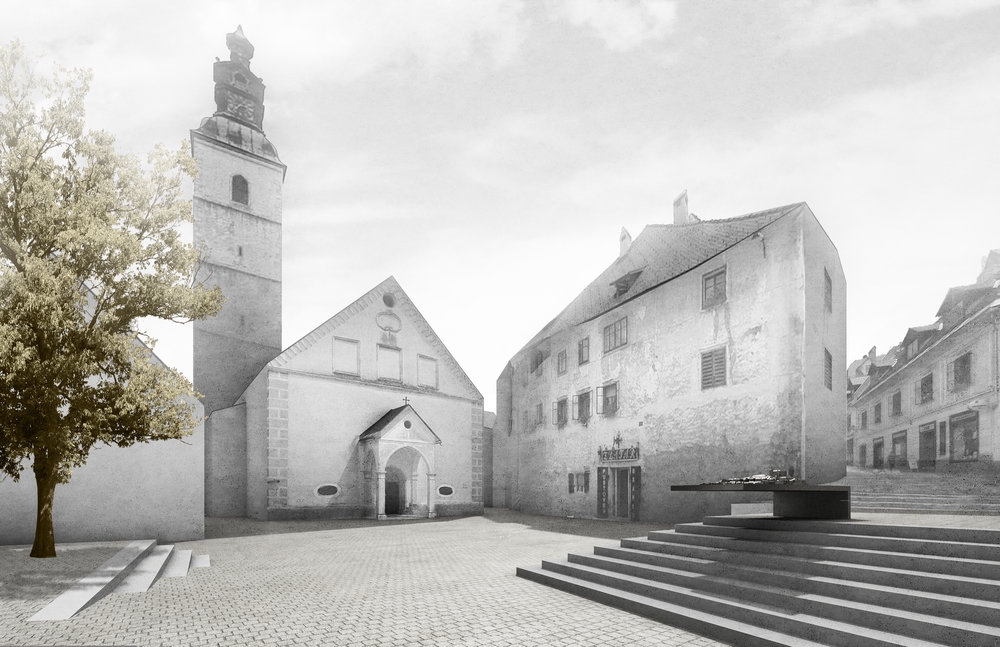 RENOVATION OF MEDIEVAL TOWN CENTRE IN ŠKOFJA LOKA 1st Prize  February 2013