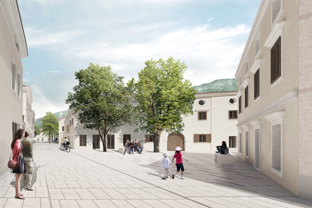 RENOVATION OF HISTORIC CENTRE - CASTRA IN AJDOVŠČINA 1st Prize  January 2017