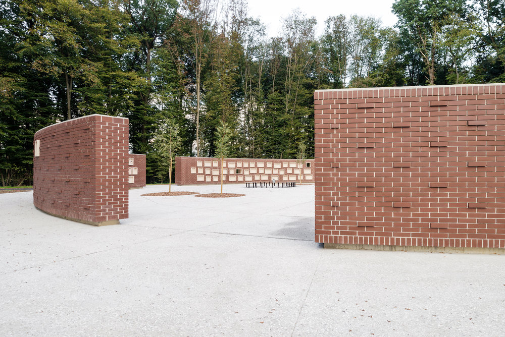 URN WALL   AT ROGOZNICA CEMETERY IN PTUJ  September 2018