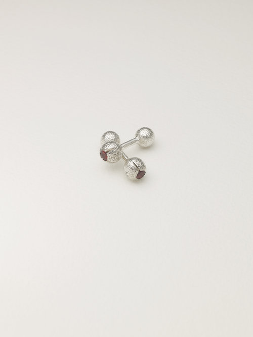 4ea2651f2 Sterling silver dumbbell cufflinks set rhodolite garnets