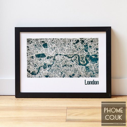 london cut out street map