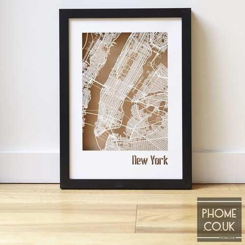 Street Map Of London Uk.New York Cut Out Street Map Phome