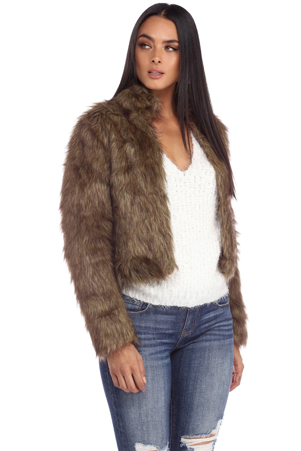 FINAL SALE-BROWN FAUX FUR CROPPED JACKET.JPG