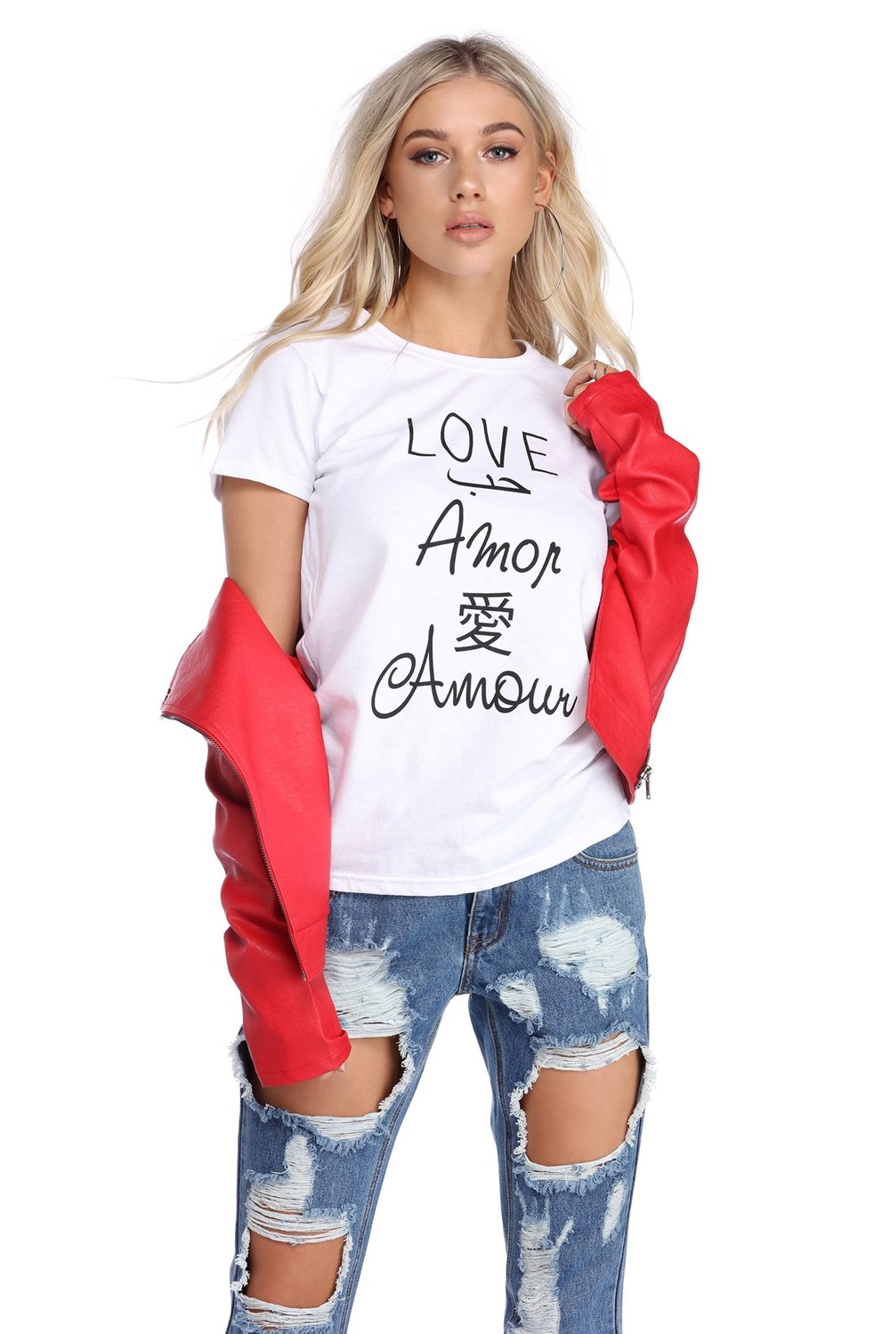 WHITE LOVE TALK TEE.JPG