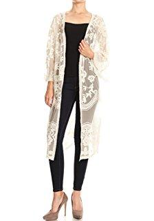 Lace Crochet Kimono