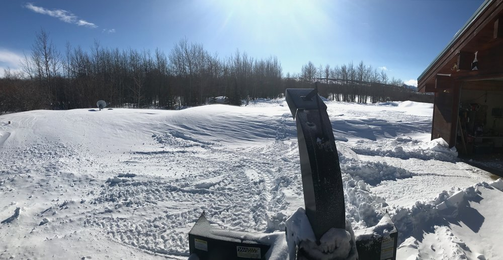 Snowblowing the drifts