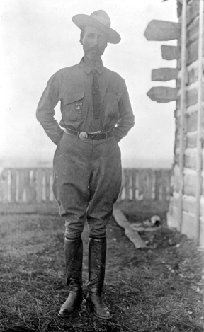 Cosley looking sharp in his Ranger duds.. Glenbow Archives.