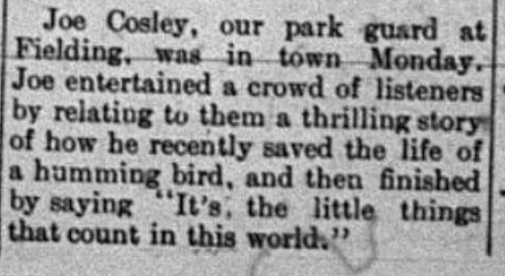 A quick update on Cosley's visit to Columbia Falls in The Columbian.