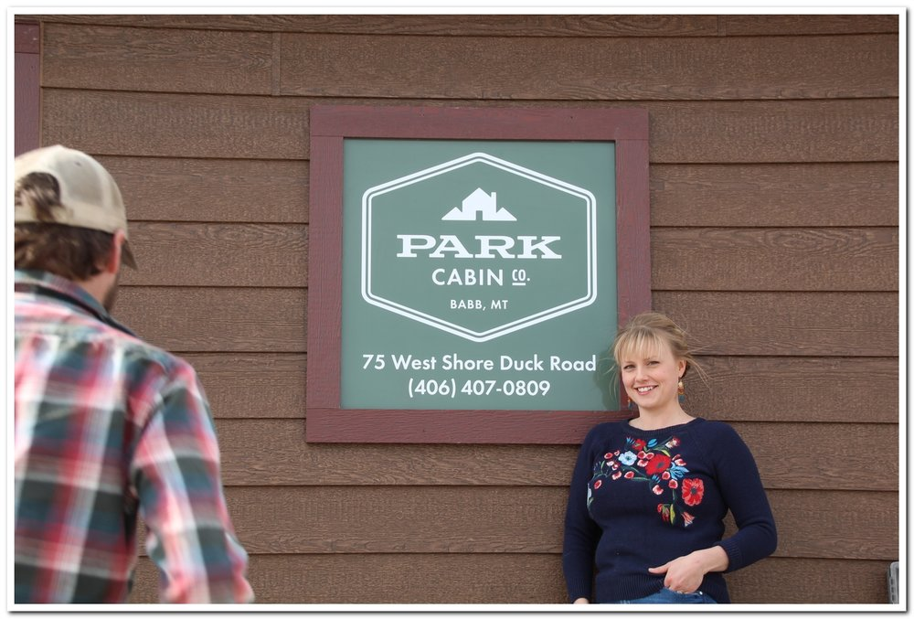 We tried, and eventually succeeded, in getting a decent photo in front of the main office sign