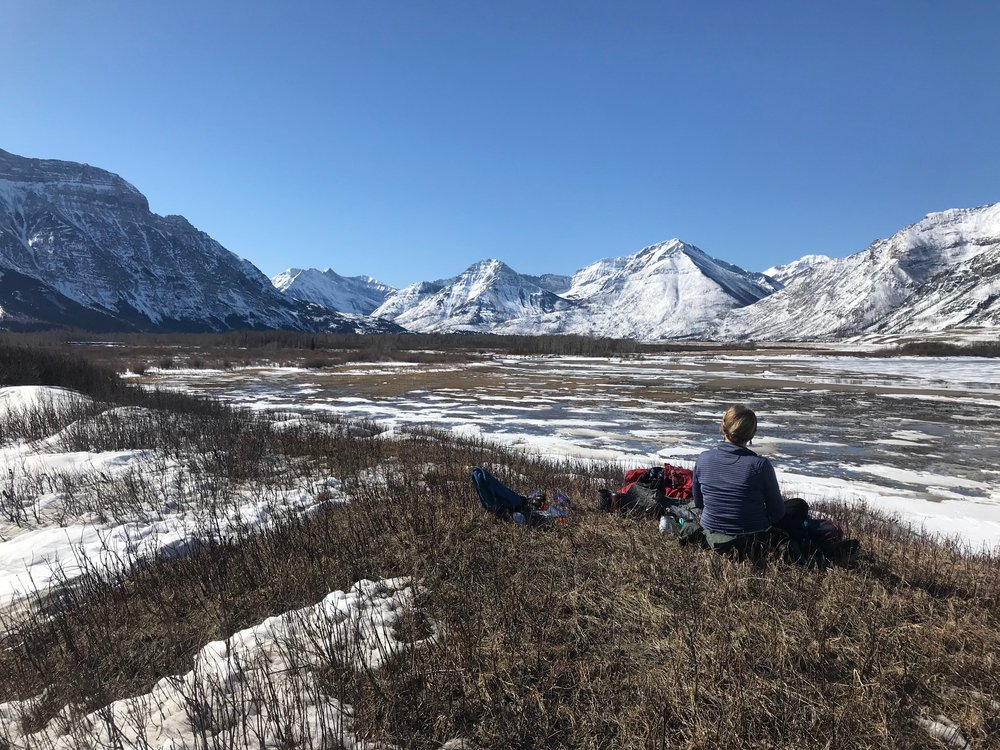 Our lunch spot on the Wishbone Trail