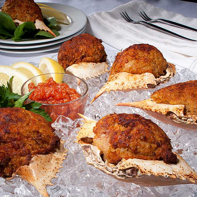 J&W Deviled Crabs are made fresh daily and they are great snack or lunch/dinner option.