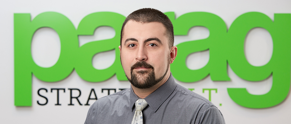 Client Support Engineer    jferraro@paragusit.com  413.587.2666 x 107   John is a long time Chicopee native where he currently resides with his wife and three children. A once banker and technology enthusiast he turned a hobby into the career of his future. Outside of work John can most often be found engaged in family, sports and board games. In addition to his many doppelgangers you may recognize John from his 15 minutes of fame as a contestant on the game show Chain Reaction. Comfort foods like lobster mac n' cheese and heavy Italian pastas are his go to dishes paired with an Allagash White or a Pinot Noir to wash it all down.