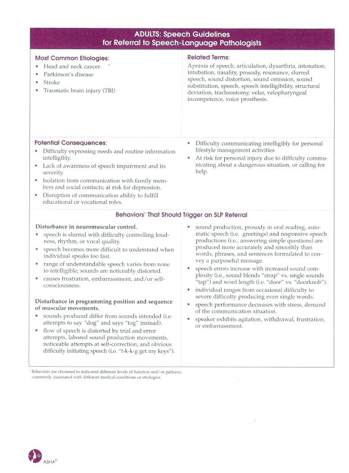 Speech Guidelines