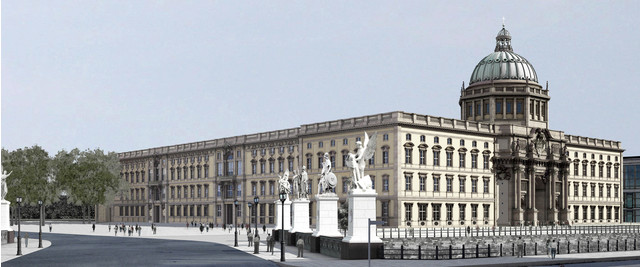 Rendering of the reconstructed Berlin Palace, to be completed in 2019. -