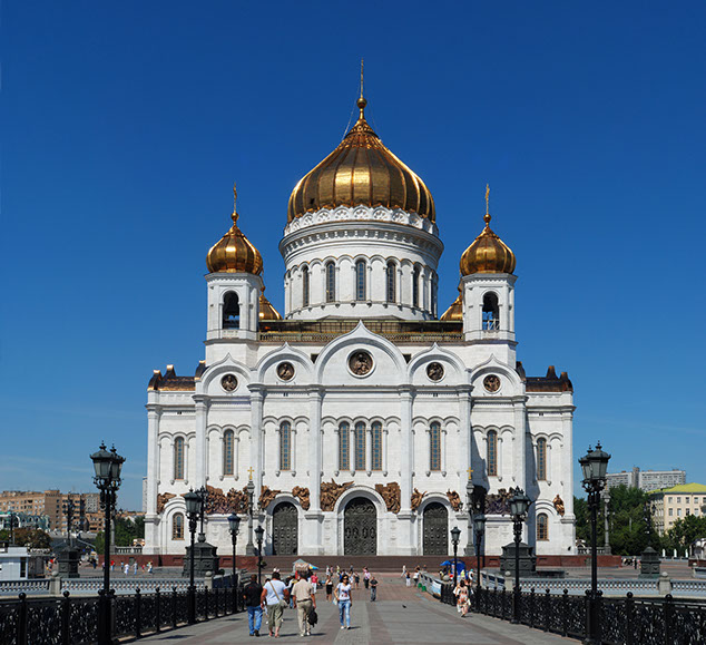 Reconstructed Cathedral of Christ the Saviour, 2000. -