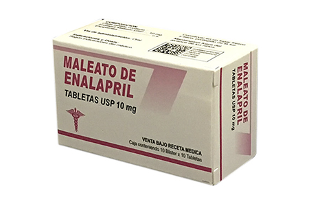 Maleato de enapril tabletas USP 10 mg