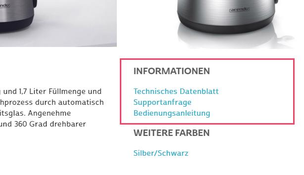 INFORMATION - Alle Bedienungsanleitungen und aktuellen technischen Datenblätter findest du auch auf den jeweiligen Produktseiten unter dem Punkt