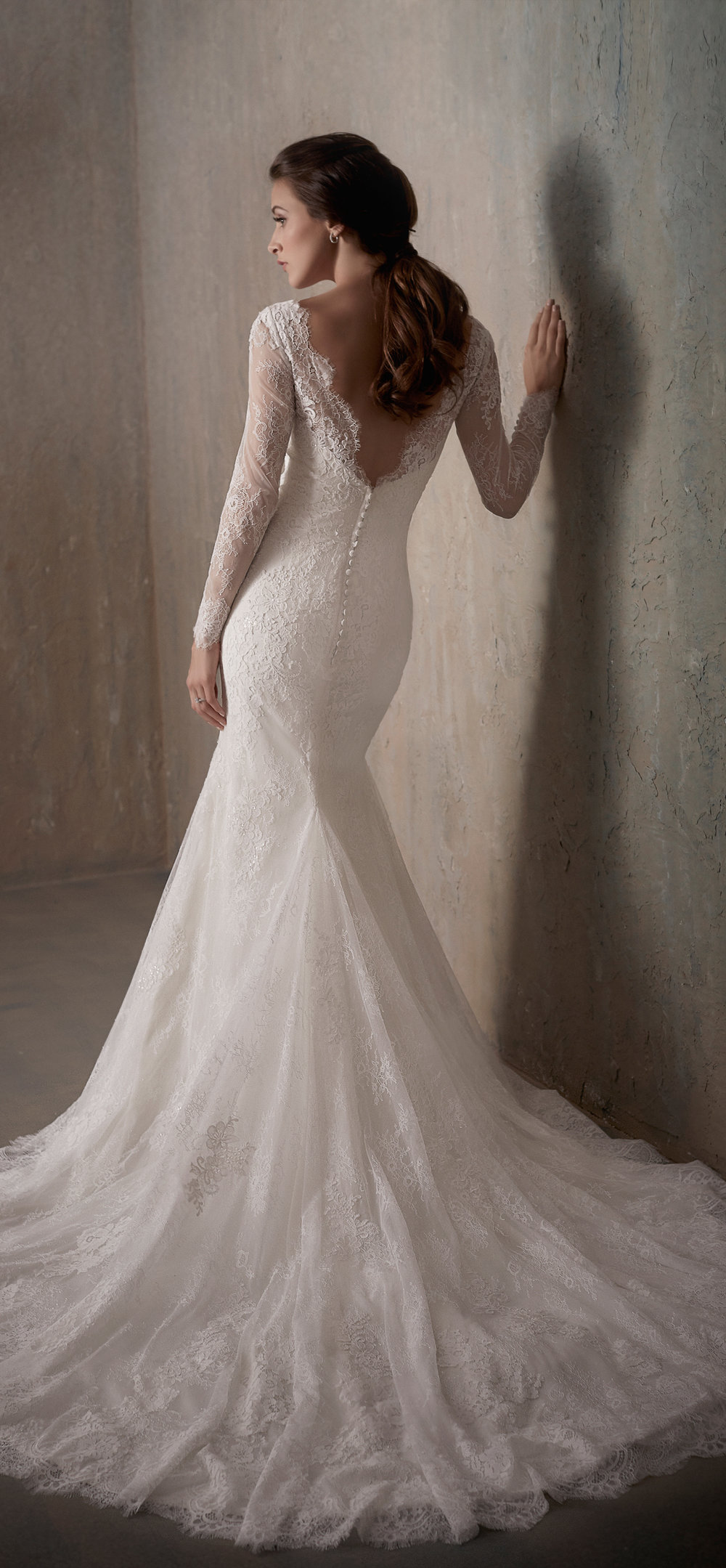 Adrianna Papell Style 31014 Country Bride and Gent Full Back View.jpg