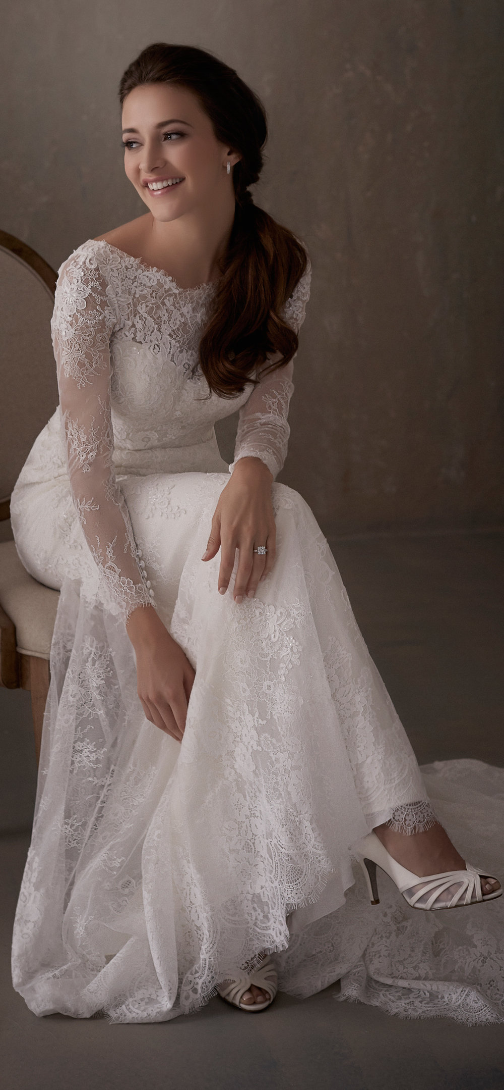 Adrianna Papell Style 31014 Country Bride and Gent Full Front View 1.jpg