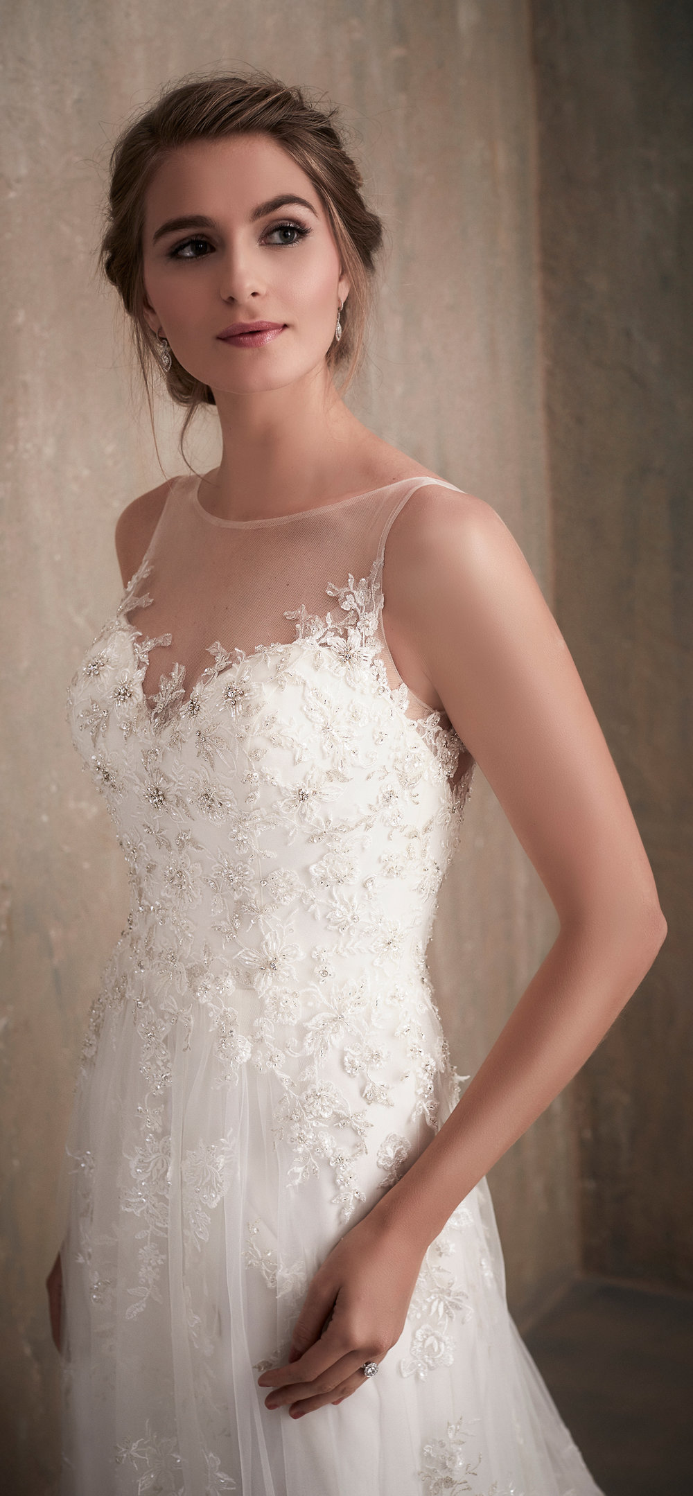 Adrianna Papell Style 31023 Country Bride and Gent Front Close Up.jpg