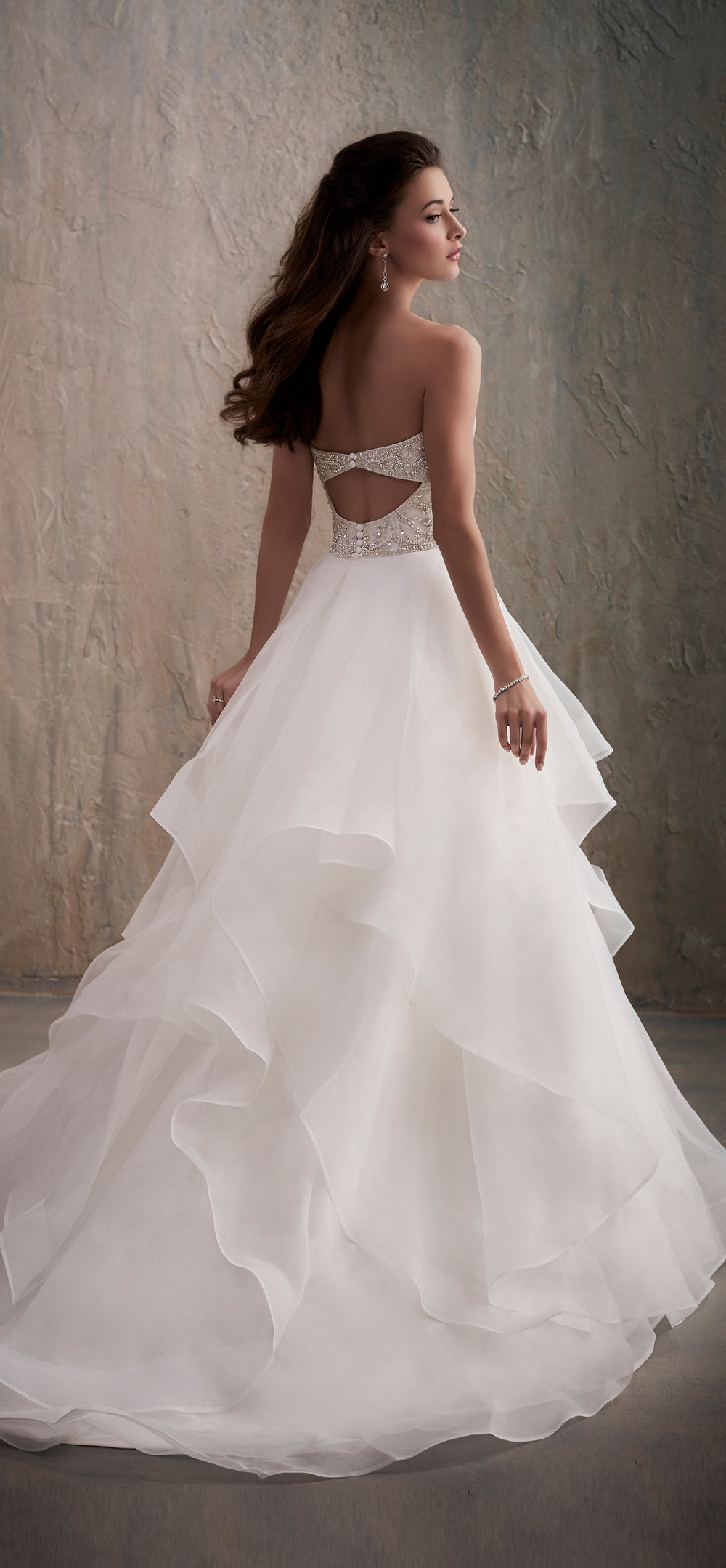 Adrianna Papell Style 31026 Country Bride and Gent Full Back View.jpg