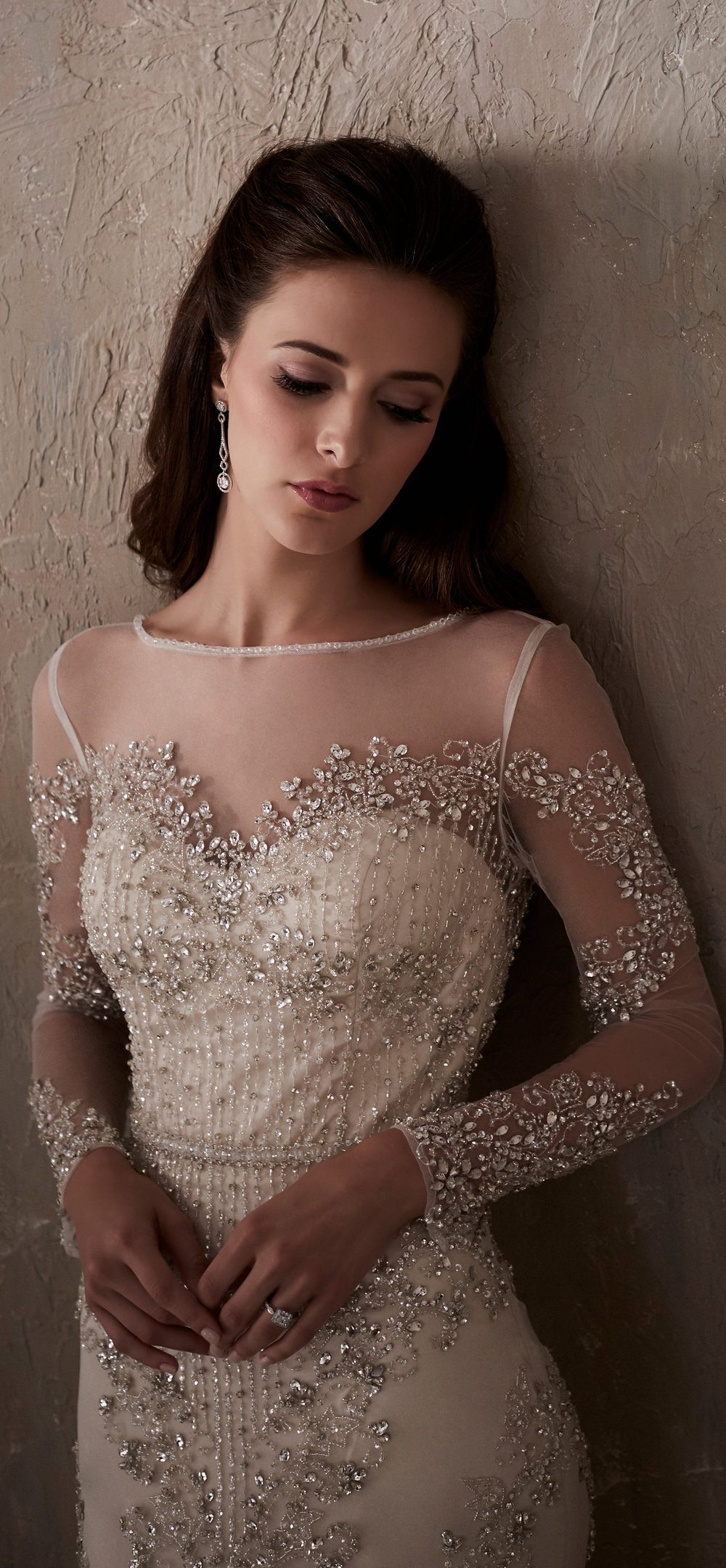 Adrianna Papell Style 31032 Country Bride and Gent Front Close Up.jpg