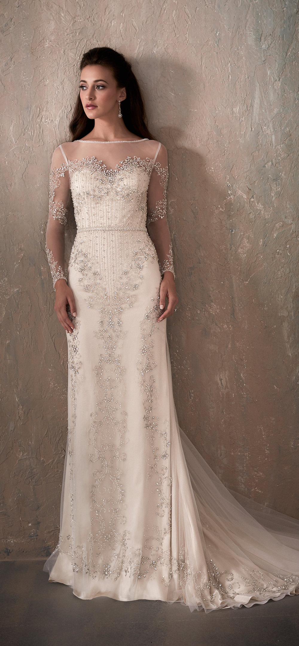 Adrianna Papell Style 31032 Country Bride and Gent Full Front View.jpg