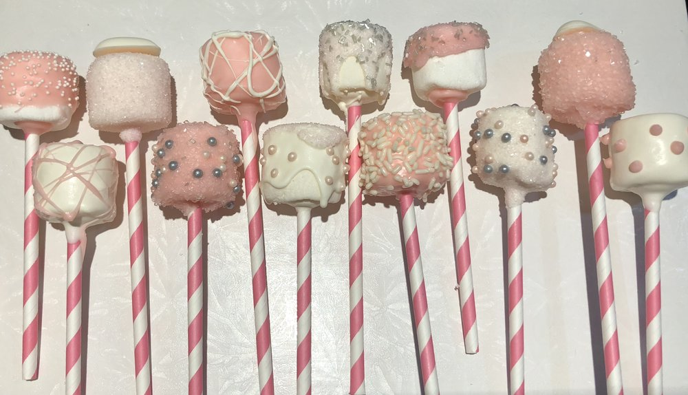 Pink Variety Marshmallow Pops