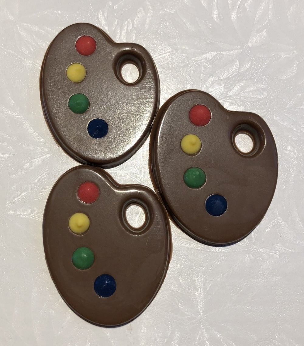 Milk Chocolate Artist Palette Toppers