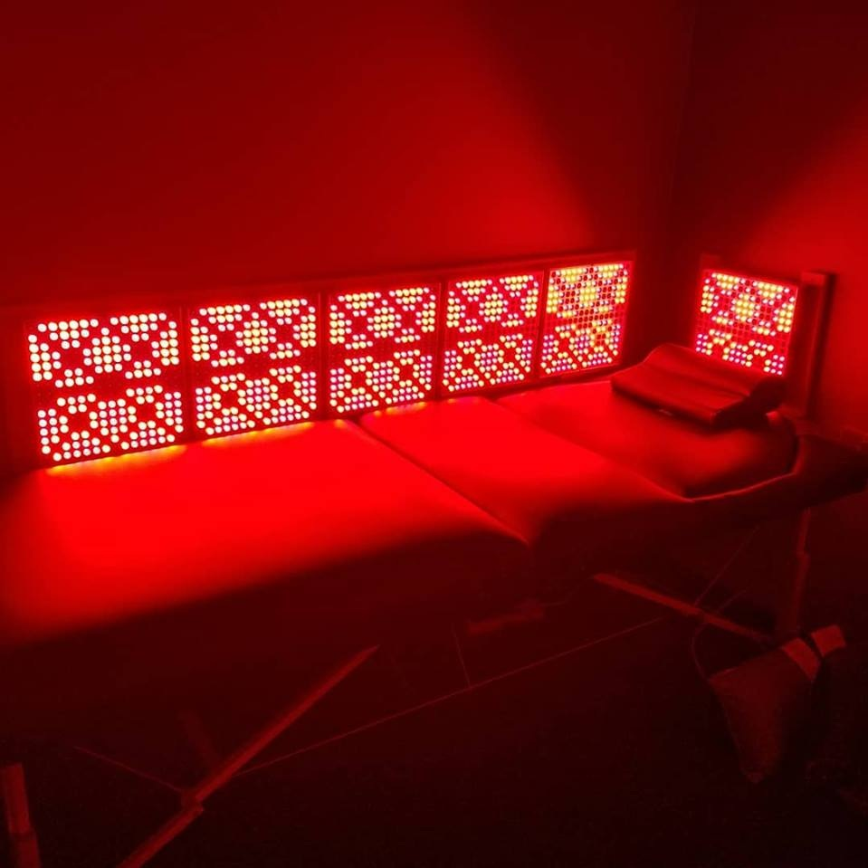 Red light therapy box with bed at Innovative Health and Performance