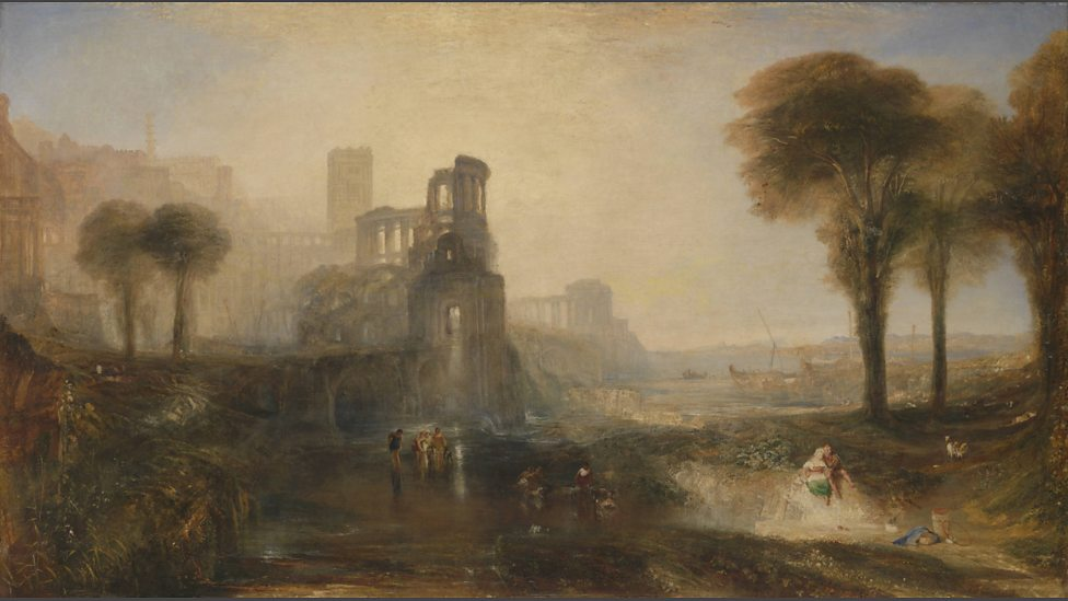 JMW Turner,  Caligula's Palace and Bridge,  (exhibited 1831,)Tate