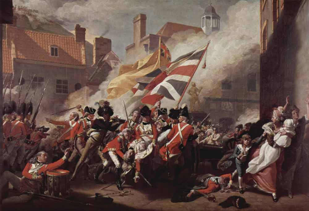 John Singleton Copley,  The Death of Major Pierson, 6th of January, 1781  , 1783 (Tate Britain)