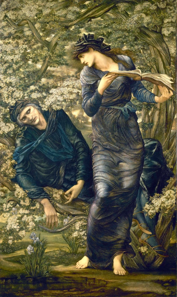 Edward Coley Burne-Jones,  The Beguiling of Merlin , 1872–7, National Museums Liverpool, Lady Lever Art Gallery