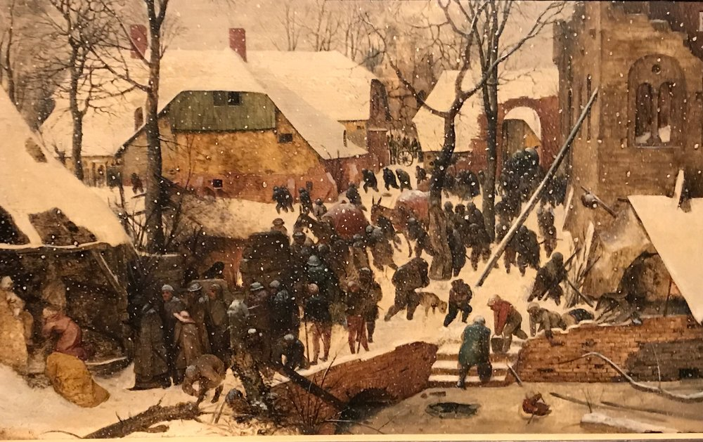 Pieter Bruegel the Elder,  The Adoration of the Magi in the Snow ,1563,(Federal Office for Culture,Oskar Reinhart Collection,Winterthur)