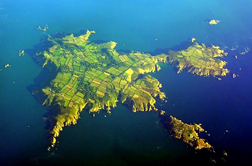 An aerial view of Sark