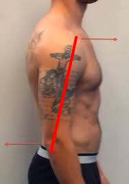 shirtless person demonstrating anterior glenohumeral glide