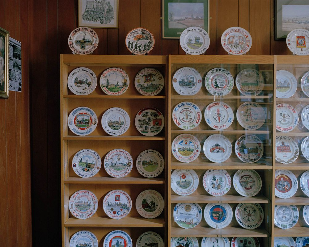 Commemorative plate collection, National Union of Mineworkers, Barnsley, South Yorkshire.