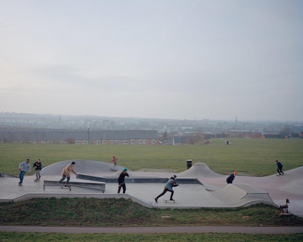 Mansfield skatepark, Nottinghamshire.