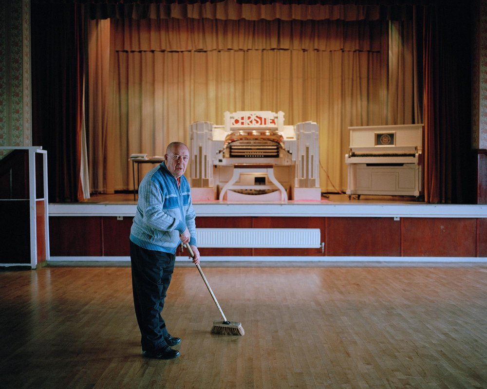 Alan, caretaker and member of the Harworth Christie Organ Enthusiasts Society.
