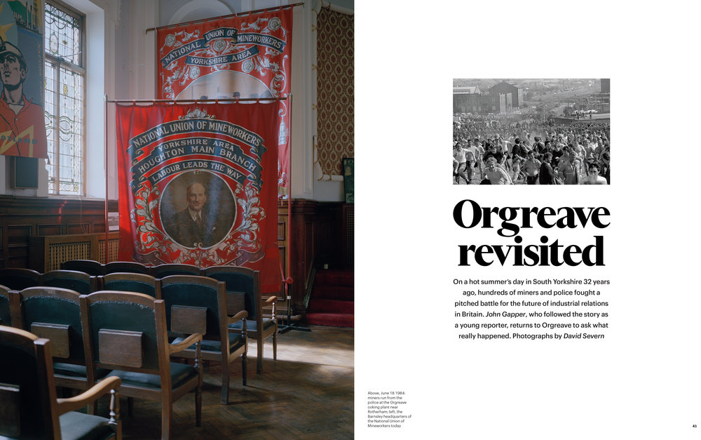 Orgreave revisited, FT Weekend Magazine tearsheet.