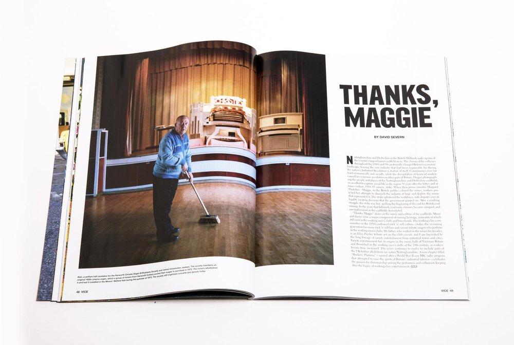 Thanks Maggie, VICE magazine, September 2017.