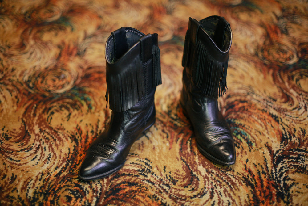 Line dancing boots, Moira Miners' Welfare, Leicestershire.