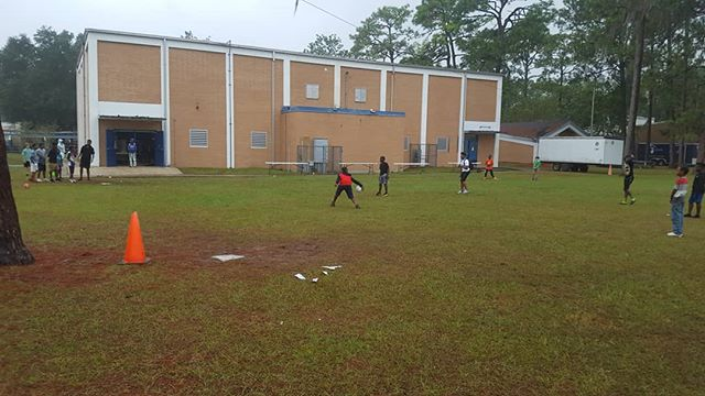 It's finally getting cold enough to wear a jacket to combine! #youthcombine #youth #combine #kickball #howardbishop #fun #outside #cold #chilly #weather