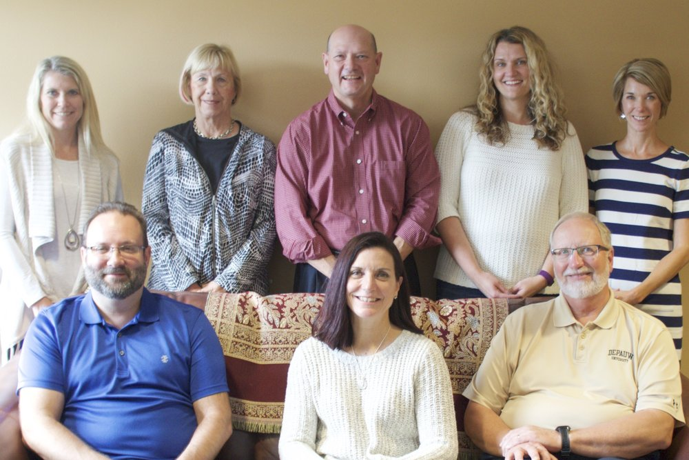 Front row: (from left) Dean Landry, Brenda White, Ray Johnson  Back row: (from left) Heather Orth, Linda Townsend Christ, Dan Horton, Elizabeth Hoff, Emily Ansani