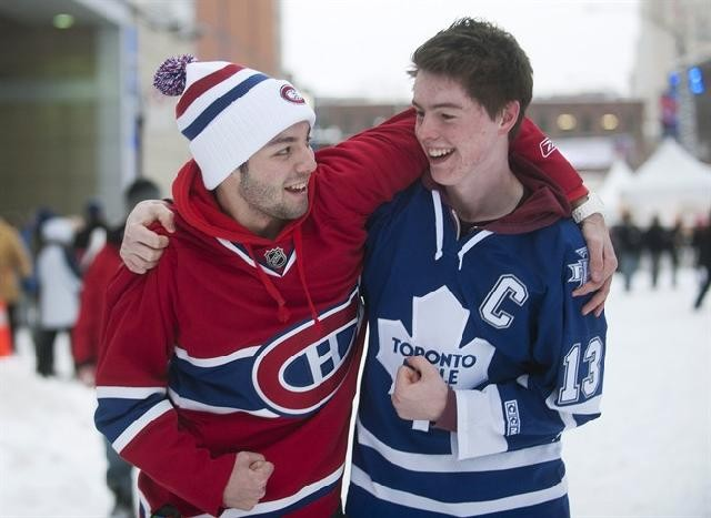 Jimmy (20) and Alex (19) - - Both freshmen in college, both play on the hockey team, and they are roommates.- Jimmy watches 2-3 games per week, while Alex watches 4-5 games per week.- Both are from Canada and have trouble watching their home teams.- Either playing NHL 18 or watching hockey during free time.- They are in a fantasy league with their hockey team.- They are both frustrated by the lack of NHL coverage.
