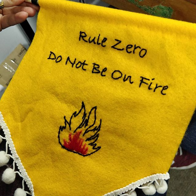 Wise words have never been more flammable.... #hackspace #rulezero