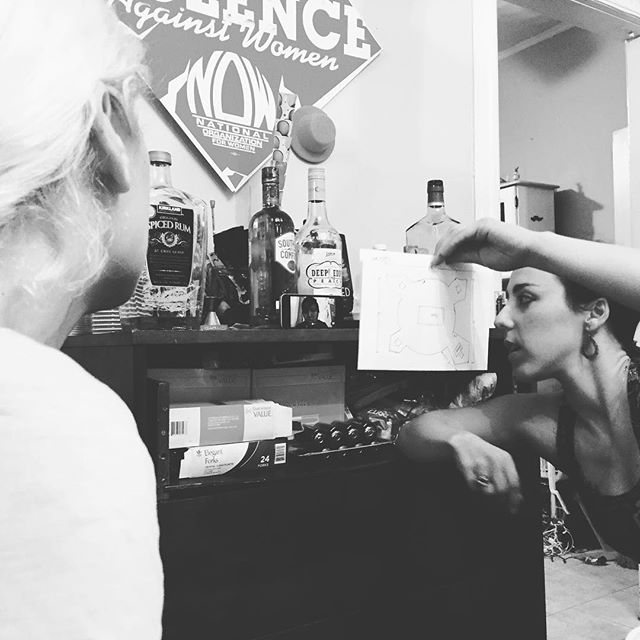 """We have our own ways of getting production meetings done.  #getugly #nusass  #renanaisabeast  Get your tickets for """"The Ugly One"""" now! @ NuSass.com"""
